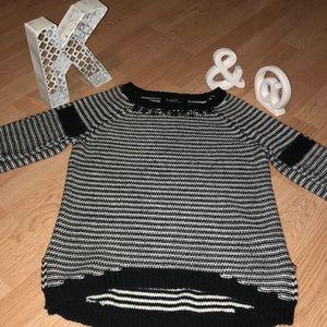 New Listing- Black & White Sweater